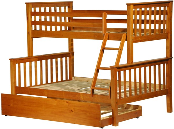 Palace Imports Mission Solid Wood Trundle Bunk Beds PIF-4254-BBT-VAR
