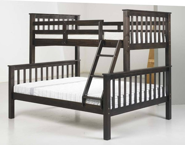 Palace Imports Mission Java Wood Twin Over Full Bunk Bed PIF-42546