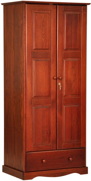 Flexible Mahogany Solid Wood Wardrobe w/1 Shelf & 1 Drawer PIF-5642