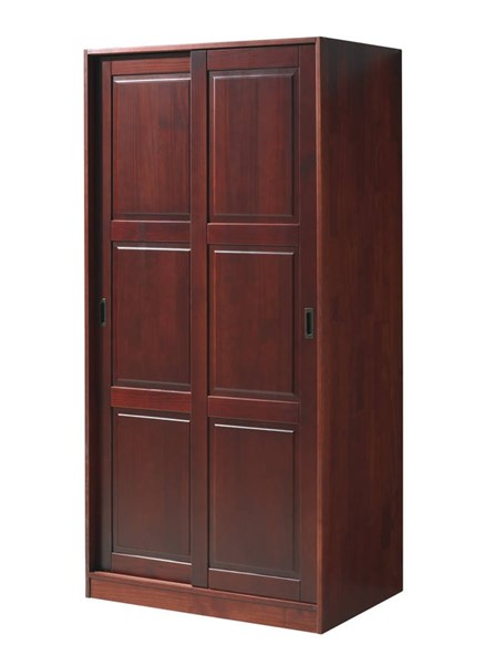 Grand mahogany solid wood 1 shelf and 2 sliding door for 1 door wardrobe with shelves