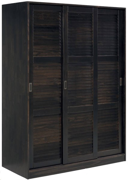 Grand Java Solid Wood 3 Sliding Door Wardrobe w/1 Shelves PIF-5676