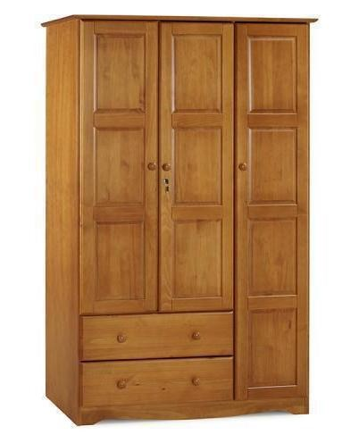 Palace Imports Grand Honey Pine 4 Shelves Wardrobe PIF-5694