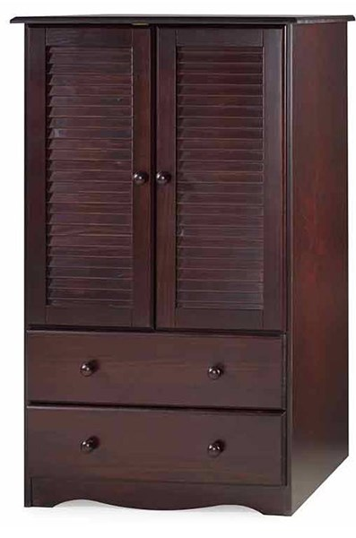 Petite Java Solid Wood Armoire w/1 Shelf & 2 Drawers PIF-5916