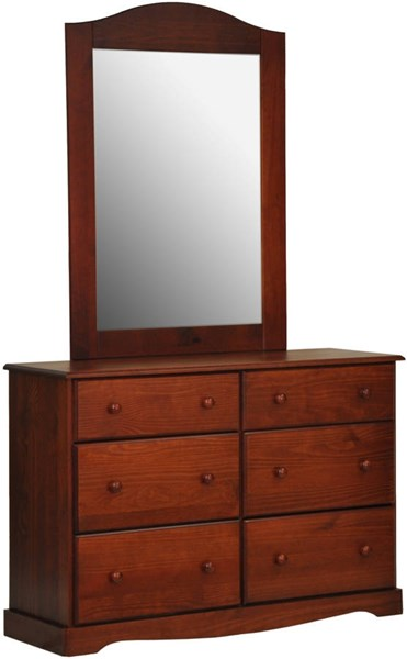 Palace Imports Mahogany Solid Wood Dresser And Mirror PIF-BRONX-DRMR-1