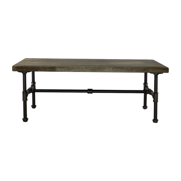 Furniture Pipeline Corvallis Black Brown 3pc Coffee Table Set PIPE-CT1-OCT-S1