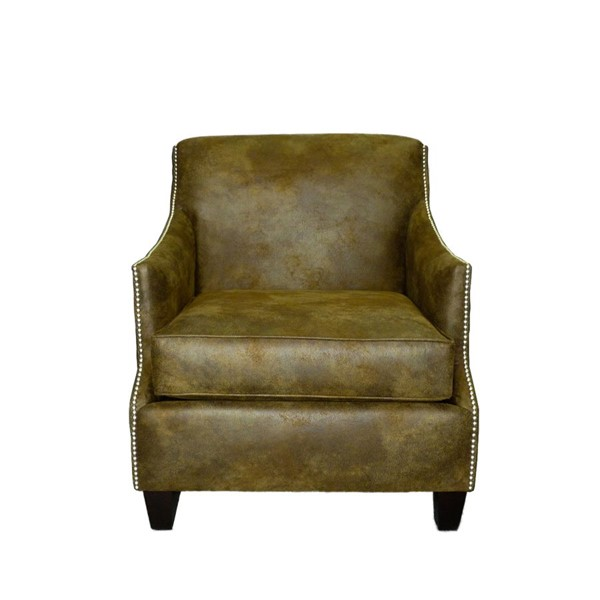 Furniture Pipeline Dallas Leather Arm Chair PIPE-WLC1-BR-SI