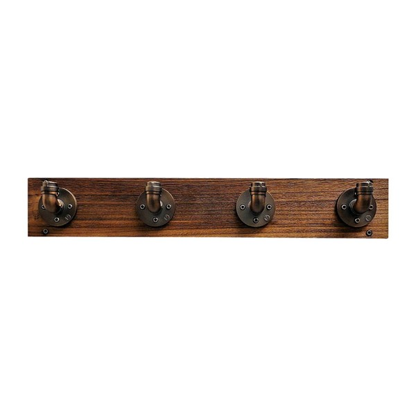 Furniture Pipeline San Antonio Bronze Light Brown Wall Mounted Coat Rack PIPE-WMCR1-BZ-BZ-BR