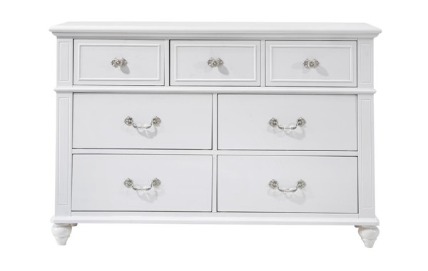 Picket House Annie White Wood 7 Drawers Dresser PKT-AN700DR