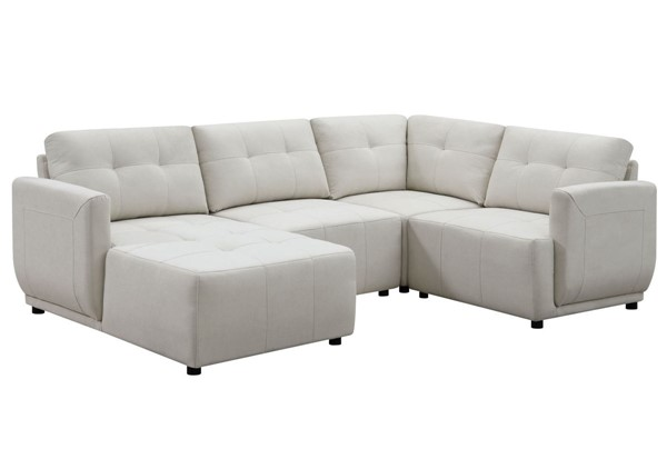 Picket House Gianni Natural Left Hand Facing Modular 4pc Sectional With Chaise PKT-UAI525LCSE4PC