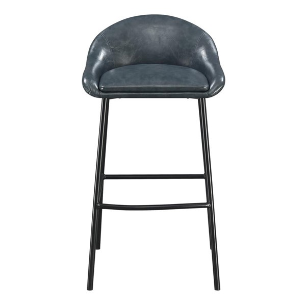 Picket House Matthews Blue Low Back Bar Stool PKT-BBY200BSE