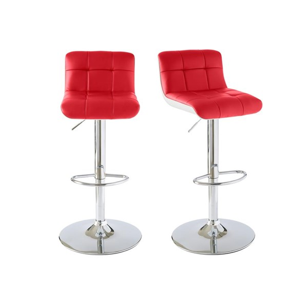 2 Picket House Becca Red Adjustable Swivel Bar Stools PKT-BML500BSE