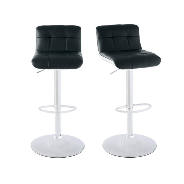 2 Picket House Becca Black Adjustable Swivel Bar Stools PKT-BML800BSE
