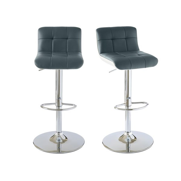 2 Picket House Becca Gray Adjustable Swivel Bar Stools PKT-BML900BSE