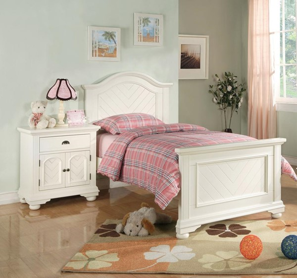 Picket House Addison White Wood 2pc Panel Bedroom Set with Panel Beds PKT-BP700-BR-S-VAR