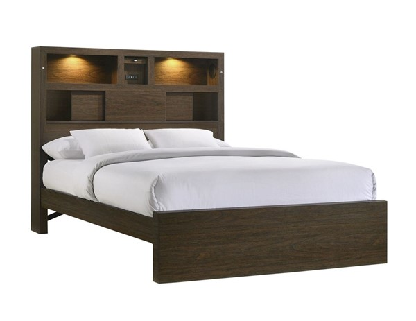 Picket House Hendrix Walnut Wood Queen Music Bed PKT-BY420QB