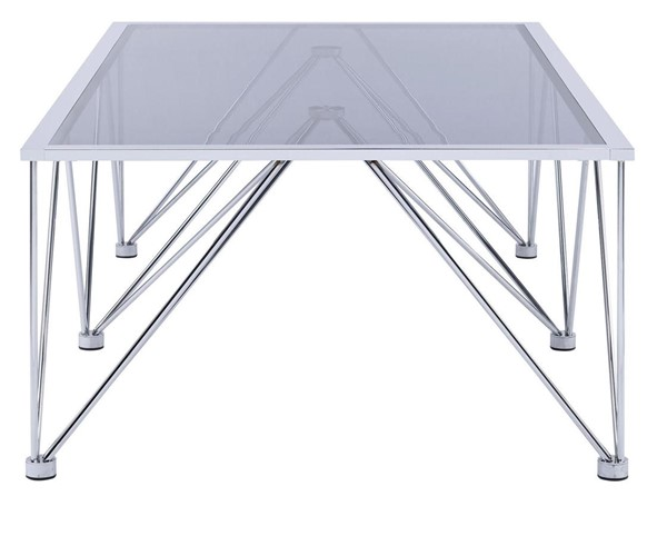 Picket House Macie Chrome Glass Top Rectangle Coffee Table PKT-CAN100CTE