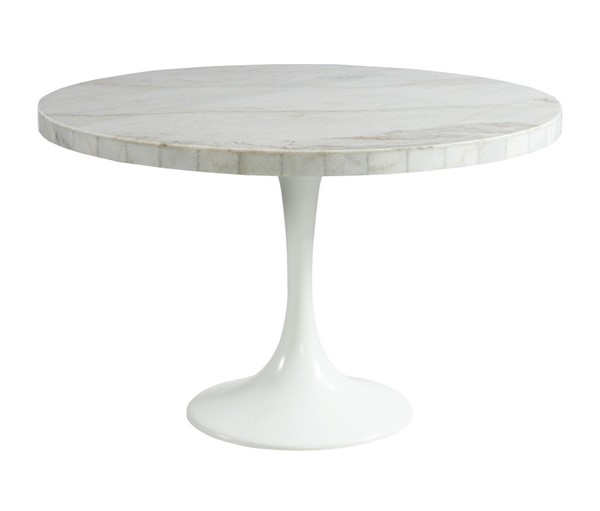 Picket House Mardelle White Marble Dining Table PKT-CCS100DT
