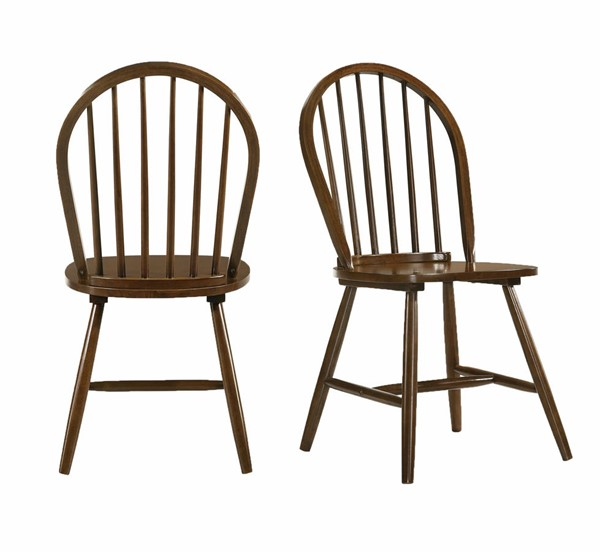 2 Picket House Orland Walnut Cherry Side Chairs PKT-CDEV500SCE