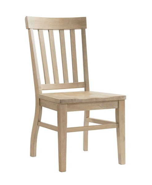 Picket House Liam Natural Rubberwood Slat Back Chair PKT-CDLW100SC