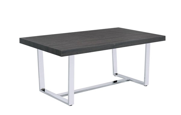 Picket House Nadine Oak Chrome Dining Table PKT-CDND100DTB