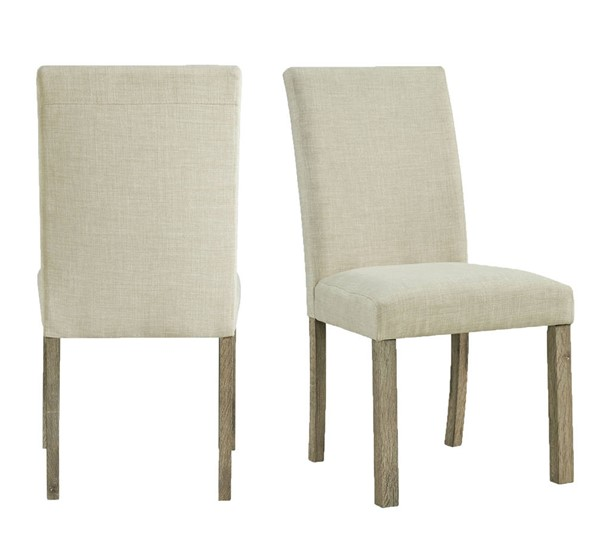 2 Picket House Turner Natural Upholstered Side Chairs PKT-CDOL100SC