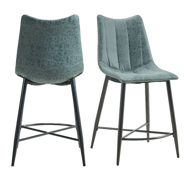 2 Picket House Conner Grey Gun Metal Height Side Chairs PKT-CDRK150CSC
