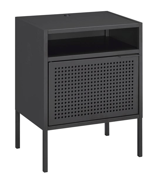 Picket House Gemma Gray Metal Nightstand with USB Port PKT-CEB300NSE