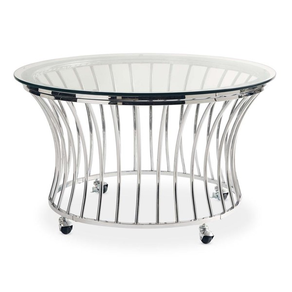 Picket House Astoria Chrome Round Coffee Table PKT-CEM100CTE