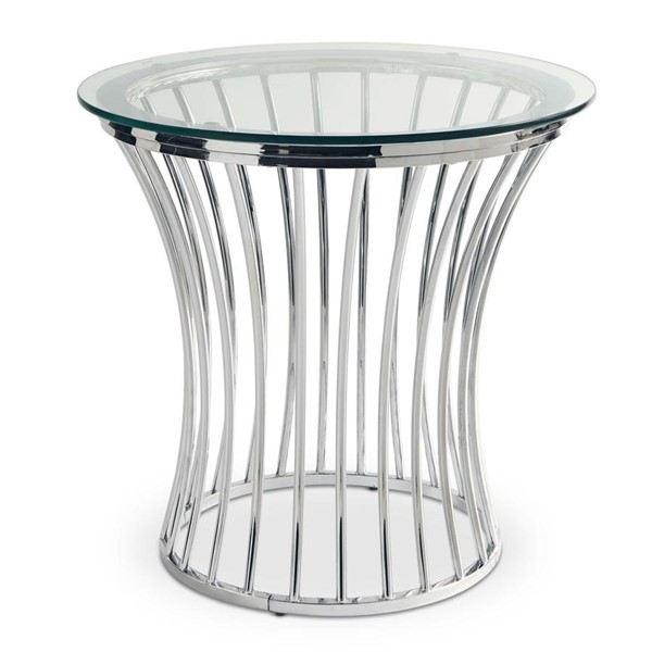 Picket House Astoria Chrome Round End Table PKT-CEM100ETE