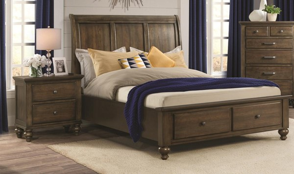 Picket House Channing Dark Walnut Wood 2pc Bedroom Sets with King Drawer Bed PKT-CH600-BR-S2