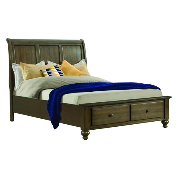 Picket House Channing Dark Walnut Wood Drawers Beds PKT-CH600-BED-VAR
