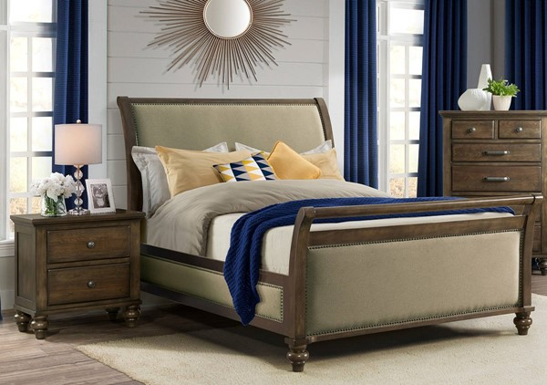 Picket House Channing Dark Walnut 2pc Bedroom Set with Queen Sleigh Bed PKT-CH670-BR-S1