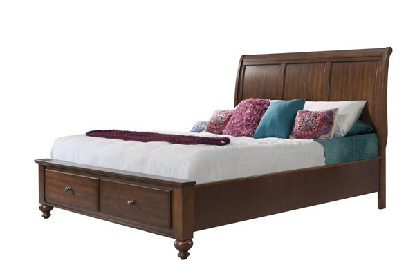 Picket House Channing Cherry 2 Drawers Storage Platform Beds PKT-CH555-BED-VAR