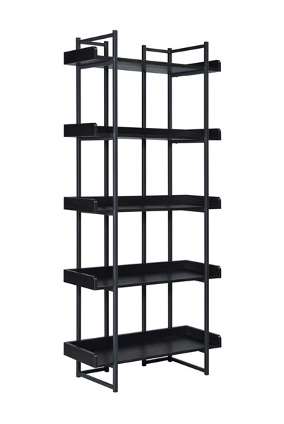 Picket House Peyton Espresso Wood Metal Bookshelf PKT-CKPS500BS