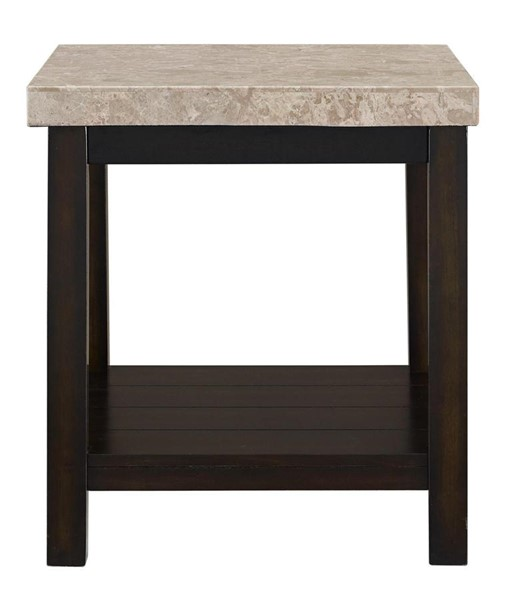 Picket House Caleb Espresso Wood Marble Top End Table PKT-CKS100ETE