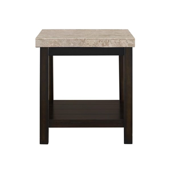 Picket House Caleb Espresso Marble Top End Table PKT-CKS100ETE