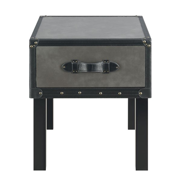 Picket House Newport Gray Wood End Table PKT-CLU300ETE