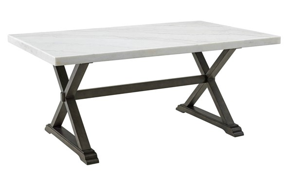 Picket House Landon White Marble Dining Table PKT-CLX100DT