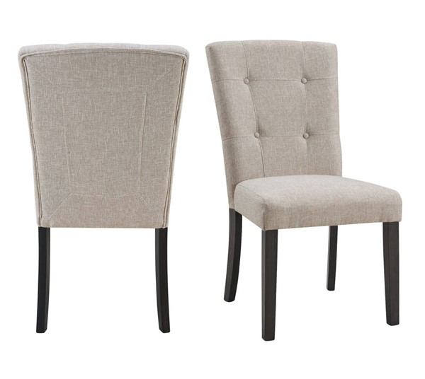 Picket House Landon Taupe Linen Tufted Upholstered Chair PKT-CLX100TFSC