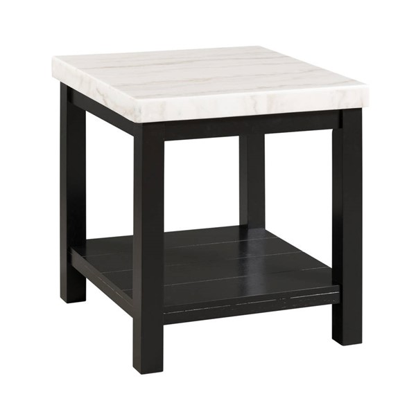 Picket House Evie White Marble Square End Table PKT-CML100ETE