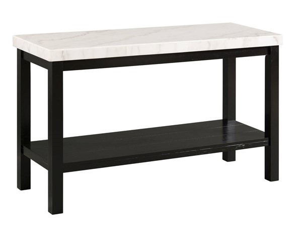 Picket House Evie White Marble Rectangle Sofa Table PKT-CML100STE
