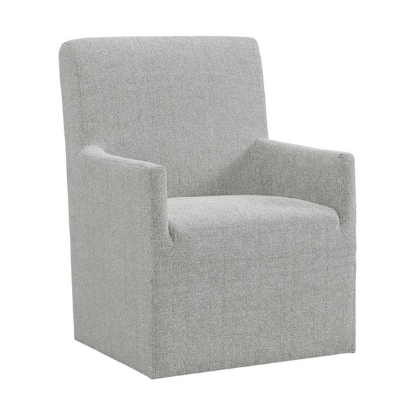 Picket House Cade Grey Polyester Upholstered Arm Chair PKT-CNO300AC