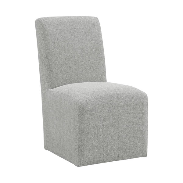 2 Picket House Cade Grey Polyester Upholstered Side Chairs PKT-CNO300SC