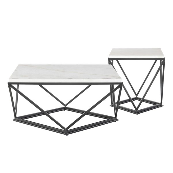 Picket House Conner Black Square 2pc Occasional Table Set PKT-CRK1002PC