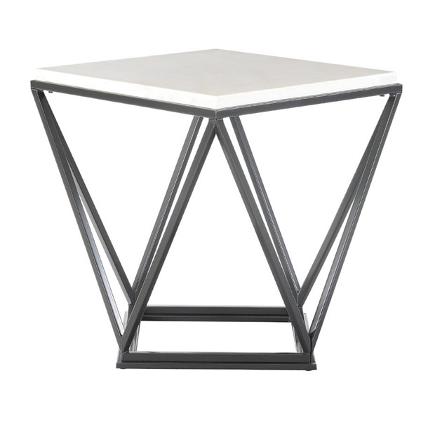 Picket House Conner Black Marble Top Square End Table PKT-CRK100ETE