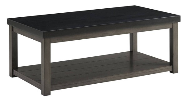 Picket House Graham Black Marble Rectangle Coffee Table PKT-CSD800CTE