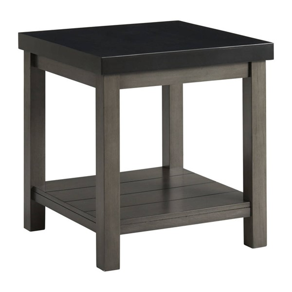 Picket House Graham Black Marble Square End Table PKT-CSD800ETE