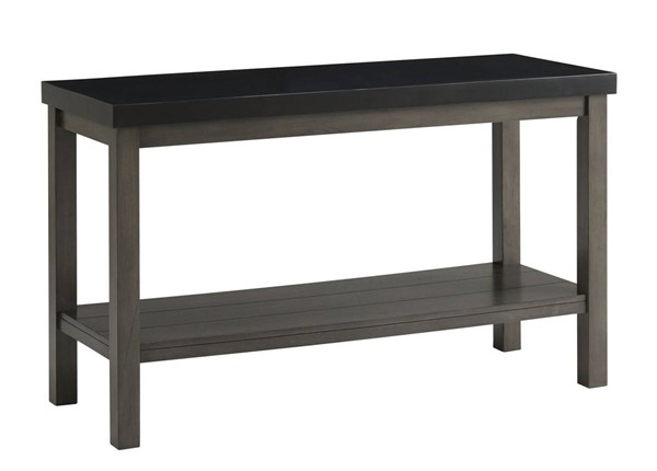 Picket House Graham Black Marble Rectangle Sofa Table PKT-CSD800STE