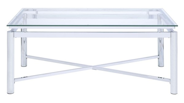 Picket House Monroe Clear Glass Top Coffee Table PKT-CSV100CTE
