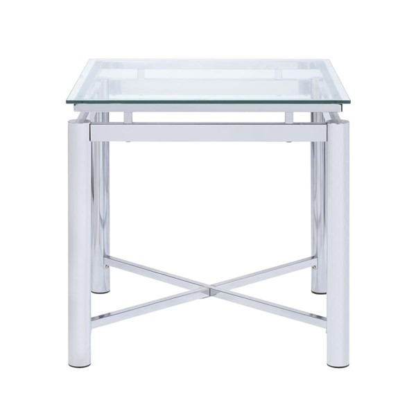 Picket House Monroe Clear Glass Top End Table PKT-CSV100ETE